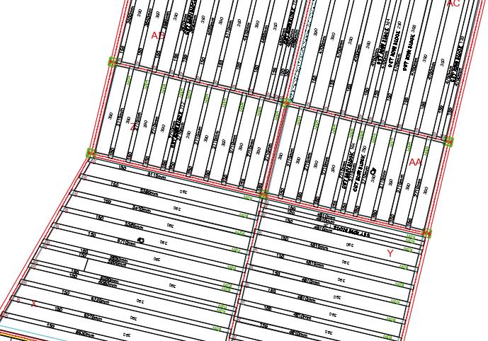 Layoutplan T-Beam systems