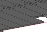 Hollow core slabs - Layoutplan in 3D