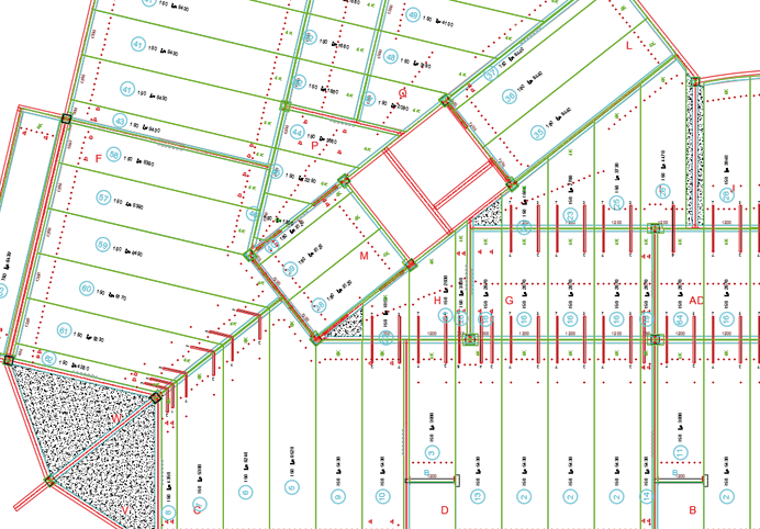 Layout plan hollow core slabs
